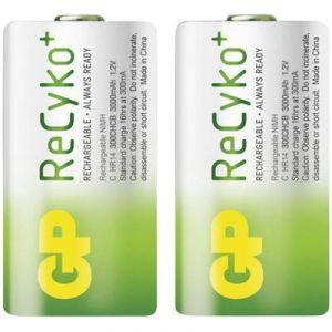 GP ReCyko+ Accu 1,2V LR14 GP 3000 mAh - Lot de 2