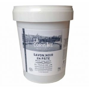 La Corvette Savon Noir en Pâte à l'Huile de Lin 1kg