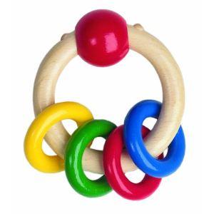 Heimess Hochet 4 anneaux Color