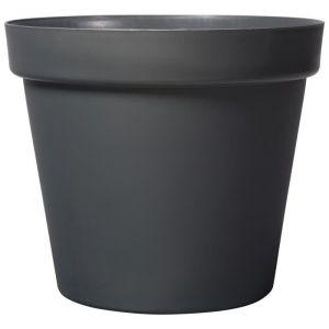 Deroma Pot Grandé - 58x58x51,5cm - 90l - Anthracite - Plastique injecté - Résistant au gel, résistant aux UV, recyclable, modèles déposés