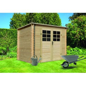 Solid Abris bois Turvo / toit plat / 5.11m² / 19mm