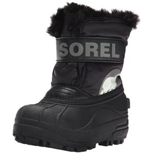 Sorel Snow Commander, Bottes de Neige Fourrées Mixte Enfant, Noir (010), 25