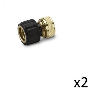 Kärcher Kit de 2 Raccords laiton 13-15mm Aquastop - 2.645-017.0