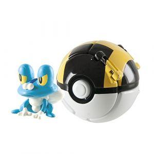Tomy T18877 - Throw'n Pop Poké Ball avec figurine - Grenousse