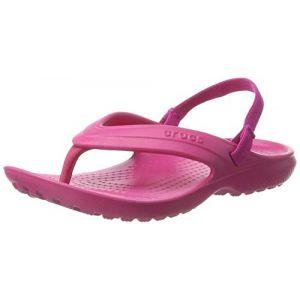Crocs Classic Flip Kids, Tongs Mixte Enfant, Rose (Candy Pink), 25-26 EU (C9 UK)