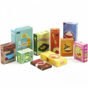 Djeco 06624 - Set épicerie et boîtes en carton