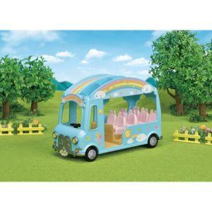 Epoch Sylvanian Families - Le bus Arc-en-Ciel des bébés