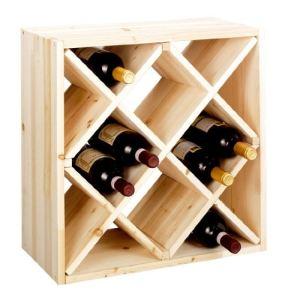 Zeller Système d'étagère à vin Cube 52 module à 3 casier séparé (25 x 52 x 52 cm)
