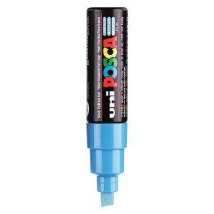 Uni Ball Marqueur effaçable encre bleu clair pointe moyenne biseautée