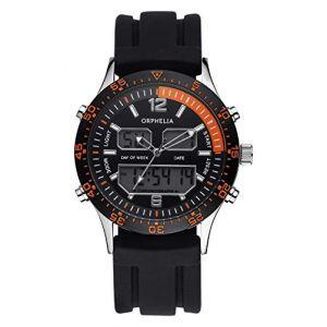 Orphelia OR22691244 - Montre Homme - Quartz - Analogique et digitale - Bracelet Silicone noir