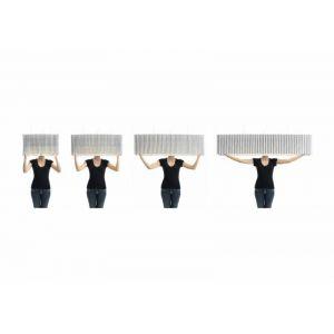 Luceplan Suspension Plissé extensible noir en tissu
