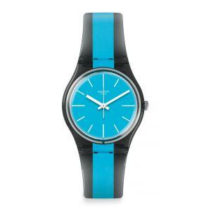 Swatch Homme Digital Quartz Montre avec Bracelet en Plastique GM186