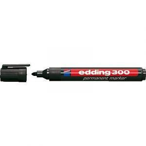 Edding Marqueur 300 permanent- corps plastique- pointe ogive - coloris noir