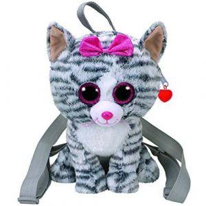 Ty Beanie Boo's - Sac à dos Peluche 50 cm - Kiki le Chat