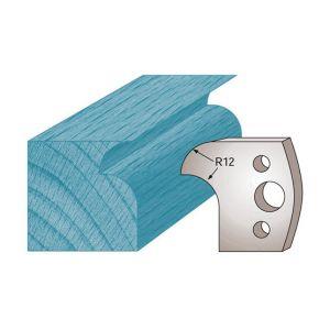 Diamwood Platinum Jeu de 2 fers profilés Ht. 40 x 4 mm quart de rond et congé M05 pour porte-outils de toupie