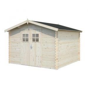WHITEWOOD Abri de jardin bois II 7,8m² Sapin FSC 279x279cm