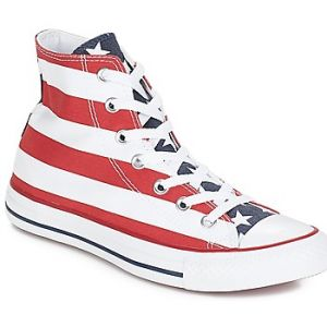 Converse Stars & Bars Hi, Baskets mode mixte adulte - Blanc/bleu/rouge, 44 EU (9 UK)