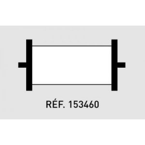 Agipa 153460 - Blister de 1 rouleau encreur noir pour pince 151009/151216/151218
