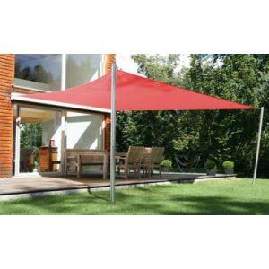 Pegane Voile d'ombrage rectangulaire Terracotta en Polyester 200g/m² anti-UV - Dim : 300 x 250 cm