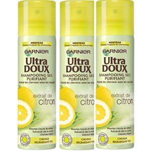 Garnier Ultra Doux - Shampooing sec purifiant à l'extrait de Citron - Cheveux Gras