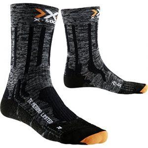 X-Bionic X-Socks Messieurs xtrek King en Laine mérinos Limited wanderstrumpf, Homme, Trekking Merino Limited, Vert/Noir