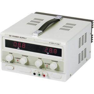 Velleman ALIMENTATION DC LAB 0-30 VCC / 0-10 A MAX AVEC DOUBLE ECRAN LED - LABPS3010