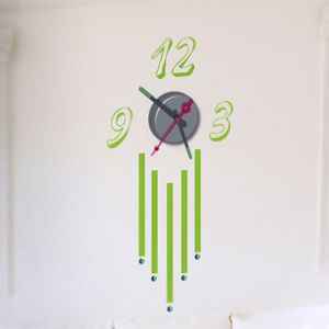 Horloge murale sticker Design Eco