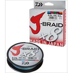 Daiwa J-Braid 8 Braid 0.13mm, 8,0kg/18lbs, 300m multicolore