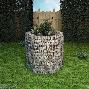 VidaXL Jardinière à gabion hexagonale 100 x 90 cm