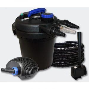 Kit filtration b in pression 10000l 11W UVC 20W Pompe Tuyau Fontaine