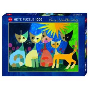 Heye Puzzle 1000 Pièces Rosina Wachtmeister, Colourful Company