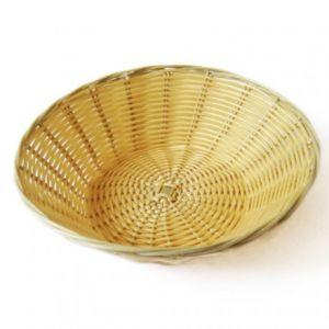 García de Pou Corbeille à pain rond tressée 25cm x 7cm - polypropylène - aspect osier - Corbeille - AZ boutique