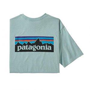 Patagonia T-Shirt pour Homme avec Logo Responsibili XL Bleu Clair