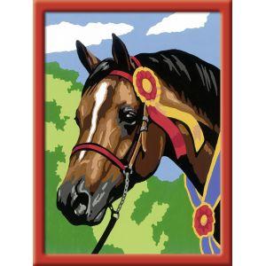 Ravensburger Numéro d'Art lignes colorées Cheval à la cocarde