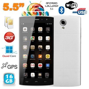 Yonis Y-sa65g16 - Smartphone Android 5.1 Double SIM 8 Go + carte 8 Go