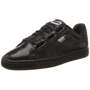 Puma Basket Heart NS, Sneakers Basses Femme, Noir (Black-Black), 37 EU