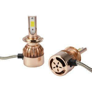 XC Source Ampoule Lampe Xénon HID Halogène H7 Phare Voiture LED 10000Lm 55W Ventilateur de Refroidissement Intégré 6000K Blanc LD1242 XCSOURCE