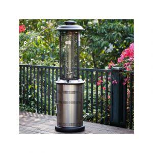 Habitat et Jardin Parasol chauffant Prestige Relax avec housse - 11 kW - Argent + Housse protection