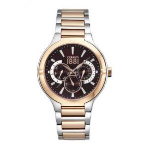 Cerruti CRA105STR12MRT -Montre pour homme avec bracelet en acier