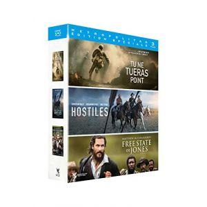 Coffret aventure 3 films : tu ne tueras point ; hostiles ; free states of jones [Blu-Ray]