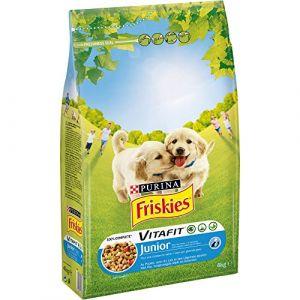 Friskies Chien Junior - Croquettes pour chiot Poulet, Lait & Légumes ajoutés 4 kg - Lot de 4 (16 kg)