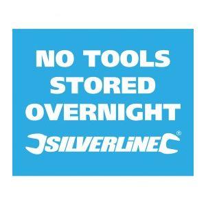 """Silverline 868761 - Stickers """"Pas d'outils dans le véhicule la nuit"""" (x10)"""