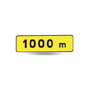 Taliaplast 525301 - Panonceau indication 1000m km t1 700x200mm