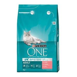 Purina ONE Adult saumon, céréales complètes pour chat - 3 kg