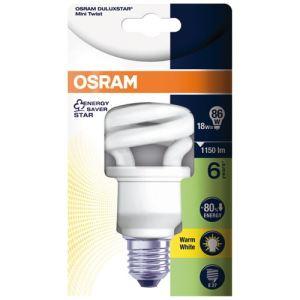 Osram Ampoule fluocompacte Duluxstar mini twist 20W 827 E27