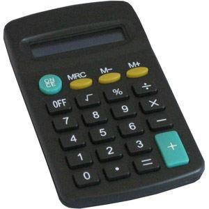 Waytex 77201 - Calculatrice de poche 8 chiffres à pile