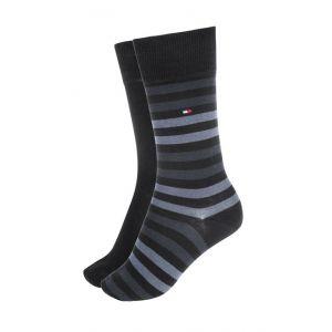 Tommy Hilfiger Lot de 2 paires de chaussettes Noir - Taille 39/42
