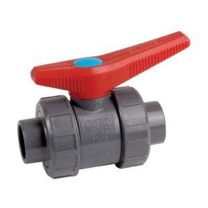 GIRPI Robinet à tournant sphérique pression K62 PVC Embout à coller. diamètre: 50 Passage: 50 VBCE50