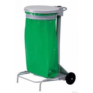 Rossignol (collecte déchets & hygiène) Support de sac poubelle à pédale roulant (50 L)
