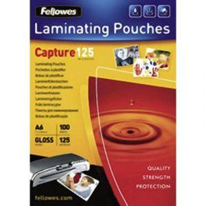 Fellowes 5307201 - Boîte de 100 pochettes Capture125, format A6, 2 x 125µ